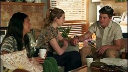 Yashvi Rebecchi, Mackenzie Hargreaves, Hendrix Greyson in Neighbours Episode 8659