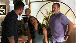 Ned Willis, Yashvi Rebecchi, Toadie Rebecchi in Neighbours Episode 8659