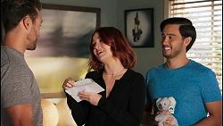 Aaron Brennan, Nicolette Stone, David Tanaka in Neighbours Episode 8660