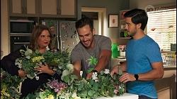Terese Willis, Aaron Brennan, David Tanaka in Neighbours Episode 8660