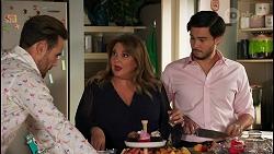 Aaron Brennan, Terese Willis, David Tanaka in Neighbours Episode 8660