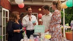Terese Willis, Aaron Brennan, Hendrix Greyson, Chloe Brennan in Neighbours Episode 8660