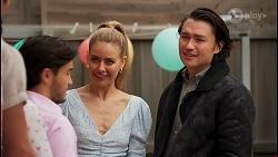 David Tanaka, Chloe Brennan, Leo Tanaka in Neighbours Episode 8660