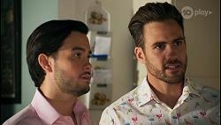 David Tanaka, Aaron Brennan in Neighbours Episode 8660