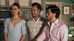 Chloe Brennan, Aaron Brennan, David Tanaka in Neighbours Episode 8661