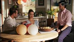 Aaron Brennan, Chloe Brennan, David Tanaka in Neighbours Episode 8661