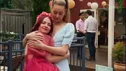 Nicolette Stone, Chloe Brennan, David Tanaka, Aaron Brennan in Neighbours Episode 8661