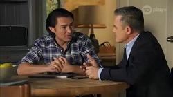 Leo Tanaka, Paul Robinson in Neighbours Episode 8662