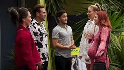 Maya Velasco, Aaron Brennan, David Tanaka, Chloe Brennan, Nicolette Stone in Neighbours Episode 8663