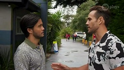 David Tanaka, Aaron Brennan in Neighbours Episode 8663