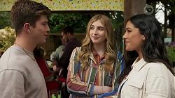 Hendrix Greyson, Mackenzie Hargreaves, Yashvi Rebecchi in Neighbours Episode 8663
