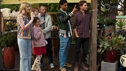Mackenzie Hargreaves, Hugo Somers, Nell Rebecchi, Toadie Rebecchi, Levi Canning, Ned Willis in Neighbours Episode 8663