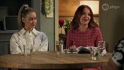 Chloe Brennan, Nicolette Stone, Aaron Brennan in Neighbours Episode 8663
