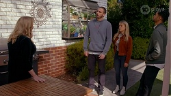 Sheila Canning, Kyle Canning, Roxy Willis, Levi Canning in Neighbours Episode 8665