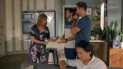 Jane Harris, David Tanaka, Aaron Brennan, Leo Tanaka in Neighbours Episode 8666
