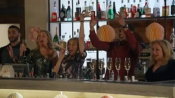 Amy Greenwood, Jane Harris, Levi Canning, Sheila Canning in Neighbours Episode 8666