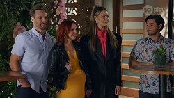Aaron Brennan, Nicolette Stone, Chloe Brennan, David Tanaka in Neighbours Episode 8666