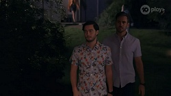 David Tanaka, Aaron Brennan in Neighbours Episode 8666