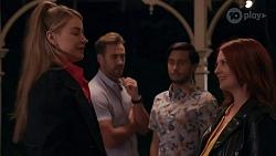 Chloe Brennan, Aaron Brennan, David Tanaka, Nicolette Stone in Neighbours Episode 8666