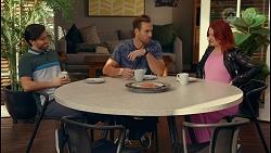David Tanaka, Aaron Brennan, Nicolette Stone in Neighbours Episode 8667