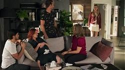 David Tanaka, Nicolette Stone, Aaron Brennan, Jane Harris, Chloe Brennan in Neighbours Episode 8669
