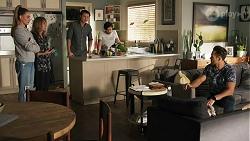 Chloe Brennan, Jane Harris, Leo Tanaka, David Tanaka, Aaron Brennan in Neighbours Episode 8670