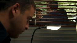 Constable Andrew Rodwell, Levi Canning, Aaron Brennan, David Tanaka in Neighbours Episode 8670
