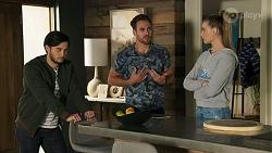 David Tanaka, Aaron Brennan, Chloe Brennan in Neighbours Episode 8670