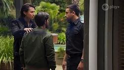 Leo Tanaka, David Tanaka, Constable Andrew Rodwell in Neighbours Episode 8670