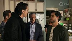 Aaron Brennan, Leo Tanaka, Paul Robinson, Terese Willis, David Tanaka in Neighbours Episode 8670