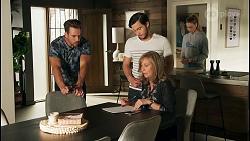 Aaron Brennan, David Tanaka, Jane Harris, Chloe Brennan in Neighbours Episode 8671