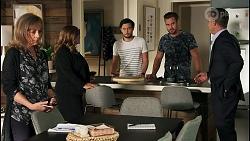 Jane Harris, Terese Willis, David Tanaka, Aaron Brennan, Paul Robinson in Neighbours Episode 8671