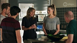 Aaron Brennan, David Tanaka, Jane Harris, Chloe Brennan, Clive Gibbons in Neighbours Episode 8672