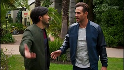 David Tanaka, Aaron Brennan in Neighbours Episode 8672