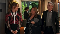 Harlow Robinson, Terese Willis, Paul Robinson in Neighbours Episode 8672