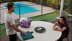 Aaron Brennan, David Tanaka in Neighbours Episode 8673