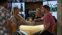 Levi Canning, Amy Greenwood, Roxy Willis, Sheila Canning, Kyle Canning in Neighbours Episode 8674
