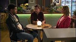 Levi Canning, Ned Willis, Amy Greenwood in Neighbours Episode 8676