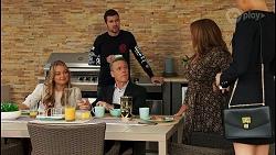 Harlow Robinson, Ned Willis, Paul Robinson, Terese Willis, Chloe Brennan in Neighbours Episode 8676