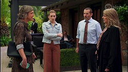 Dr. Anna Buke, Mackenzie Hargreaves, Toadie Rebecchi, Melanie Pearson in Neighbours Episode 8677