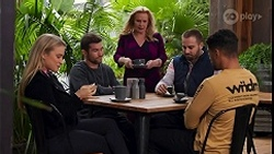 Roxy Willis, Ned Willis, Sheila Canning, Kyle Canning, Levi Canning in Neighbours Episode 8678