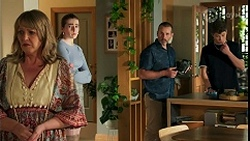 Melanie Pearson, Mackenzie Hargreaves, Toadie Rebecchi, Hendrix Greyson in Neighbours Episode 8678