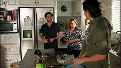 David Tanaka, Terese Willis, Leo Tanaka in Neighbours Episode 8681