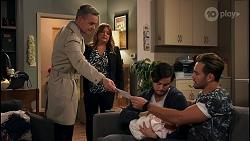Paul Robinson, Terese Willis, David Tanaka, Isla Tanaka-Brennan, Aaron Brennan in Neighbours Episode 8682
