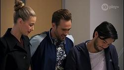 Chloe Brennan, Aaron Brennan, David Tanaka in Neighbours Episode 8682