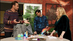 Aaron Brennan, David Tanaka, Sheila Canning in Neighbours Episode 8683