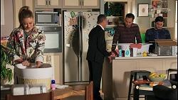 Chloe Brennan, Paul Robinson, Aaron Brennan, David Tanaka in Neighbours Episode 8683
