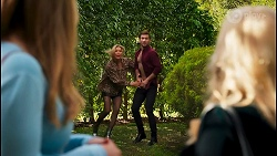 Harlow Robinson, Amy Greenwood, Ned Willis, Sheila Canning in Neighbours Episode 8683