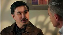 John Wong, Paul Robinson in Neighbours Episode 8683