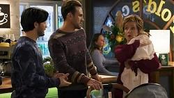 David Tanaka, Aaron Brennan, Susan Kennedy, Isla Tanaka-Brennan in Neighbours Episode 8684